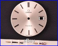 Omega Genève Swiss Made Genuine Dial with Hands 30mm Vintage RARE