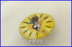 Omega Seamaster Quartz Cal. 1310 31mm Hand Painting Nude Virgo Watch Yellow Dial