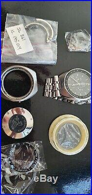 Omega Speedmaster Professional Mark II 145.014 + PARTS Case, Dial, Hands Crystal