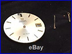 Omega cal 1002 watch movement DE VILLE dial and hands, date, parts SWISS RUNS