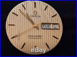 Omega cal 1020 watch movement Seamaster dial and hands, day date parts SWISS
