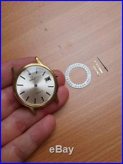 Omega cal. 613 vintage case, dial, hands parts