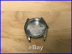 Original Guenine Rolex 1601 Datejust Stainless case WG bezel & Dail & hands 36mm