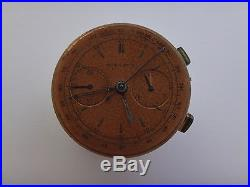 Original Landeron Nicolet Movement Chronographe Suisse Dial & Hands Working