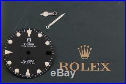 Original Matte Black Tudor Sub Dial With Lolly Pop Hands AT12