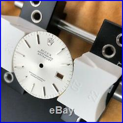 Original Rolex DateJust OysterQuartz Sun-brushed Silver Dial WithGod Marks +Hands
