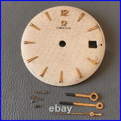 Original Vintage OMEGA Watch Dial, Hands And Parts. 29.4mm