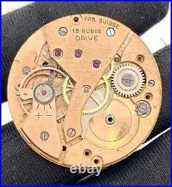 Orive Cal. 501 hand manual vintage 32,9 mm NO Funciona for parts