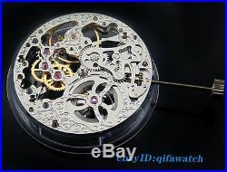 P74 Men's Parnis Wristwatch Kit Mechanical Full Skeleton Hand Winding Movement