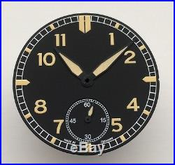 PILOT DIAL + HANDS SET FOR ETA 6498-1 D= 38.2mm OLD RADIUM 6498 UNITAS NEW