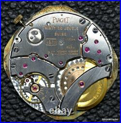 Piaget Calibre 12P1 Movement 24K Gold Micro-Rotor Dial Hands For Parts