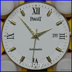 Piaget Calibre P951 Automatic Date Movement Hands Solid 18K Gold Dial For Parts