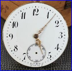 Pocket Watch No Funziona For Parts Hand Manuale 44,3 MM Orologio Tasca