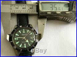RARE 60's Marcel & Cie Calendar Hand Winding Diver Men's Watch Swiss For parts