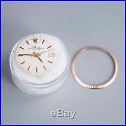 RARE Rolex Ladies Date Pink EveRose Gold Dial Bezel Hands
