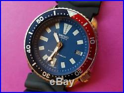 RESTORED SEIKO 7002 7000 With AFTERMARKET COLORED DIAL HANDS MENS WATCH #080260