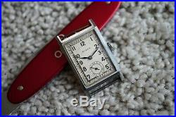 ROLEX 2245 Prince tank rectangle steel blued hands 1940's for parts/repair