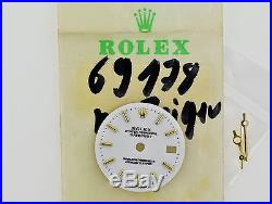 ROLEX Datejust Ladies Ref 69178 Silver TRITIUM Watch Dial Hands Excellent ZB221