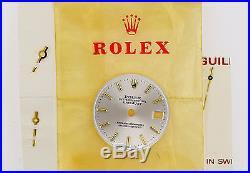 ROLEX Datejust Ladies Ref 69178 Silver Watch Dial & Hands Excellent (ZB201)
