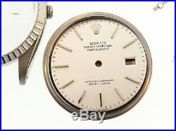 Rolex Original Stainless Steelcase, Case Back, Silver Dial And Hour Hands. 16000