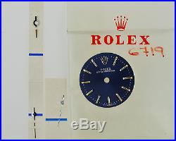 ROLEX Oyster Perpetual Ladies 6719 Blue TRITIUM Watch Dial incl Hands NOS ZB194