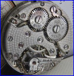 ROLEX Rebberg rare movement with SUB SECOND HAND and good enamel dial 25.7mm