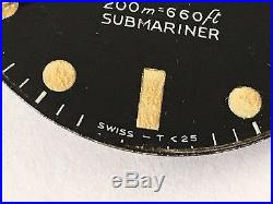 Rolex Submariner 5513 Vintage Tritium Dial Matching Hands Rare Meters First