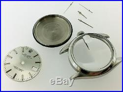 Rolex Vintage Oyster Perpetual Date 1500 S Steel Case Hands Silver Dial Tritium