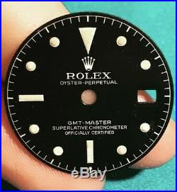 Rare 1962 ROLEX GMT 1675 chapter ring dial gilt exclamation point +hands