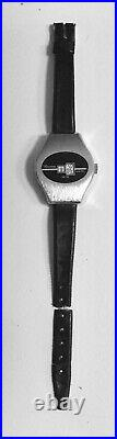 Rare Vintage 60s Lucerne Digital Swiss Watch Hand Wound Not Running For Parts