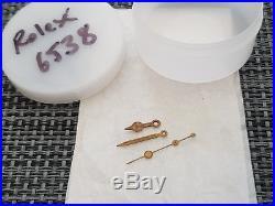 Rare rolex 6538- 6536 gilt hand set including lollypop seconds hand