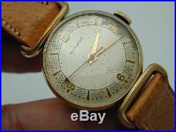 Red Arrow Second Hand Vintage 1950s Wittnauer Gf Fancy Case Wrist Watch Running