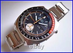 Replacement Seiko Black Dial, Hands, Inner Bezel Fits Seiko 6139-6032 Men's Watch