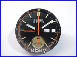 Replacement Seiko Black Dial, Hands, Inner Bezel For Seiko 6139-6032 Men's Watch
