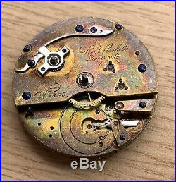 Rob Roskell Liverpool Hand Manual 43 MM Doesn'T Works For Parts Pocket Watch