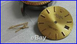 Rolex 15233 steel and 18kt gold watch case completely crystal, dial, hands, crown