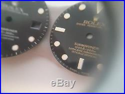 Rolex 16800 Submariner Dial, Hands, Insert, Crown, And Tube. Spider Effect. Rare