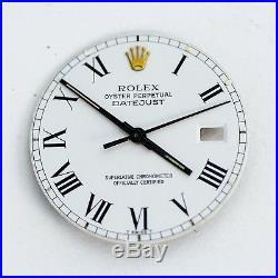 Rolex 2T White Buckley Roman Dial Hands DateJust Quickset 3135 3035 16013 16233