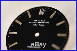 Rolex 5500 AIR KING Watch Black Dial 1520 Cal With Original hands as a gift