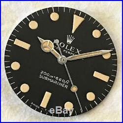 Rolex 5513 Meters First Dial & Matching Hands 100% Genuine Amazing Cream Patina