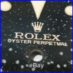 Rolex 6202 Dial & Hands, Turn O Graph, Tritium, Glossy Black, Vintage