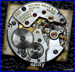 Rolex Cellini Calibre 1601 Movement Dial Hands And Crown Works For Parts