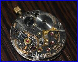 Rolex Cellini Watch movement cal. 1600 FOR PARTS with dial hands and crown USED