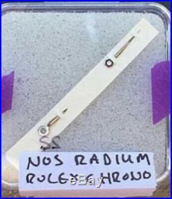 Rolex Chronograph NOS Radium hour and minute hands White 50s-60s v72