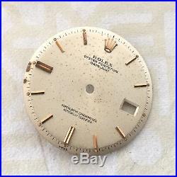 Rolex Datejust 1601 Vintage Dial, Hands And 18kt Rose Gold Bezel 100% Genuine