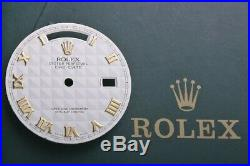 Rolex Daydate President Cream Pyramid Roman Dial for 18238 118238 W Hands