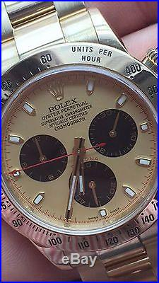 Rolex Daytona 18k Paul Newman Champagne Gold Dial And Hands 116528 116523