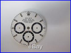 Rolex Daytona Ref. 16520 White Dial And Hands For Zenith Movement