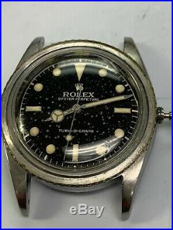 Rolex Dial & Hands only, 6202 Turn O Graph, luminous, patina lume, Genuine
