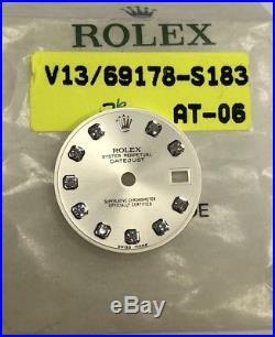 Rolex Factory Diamond Datejust Watch Dial -Ladies Datejust Inc Hands Set NEW